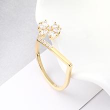 AAA级锆石戒指--繁花似锦(14K金)