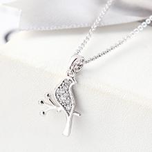 AAA级锆石项链--枯枝(白金)