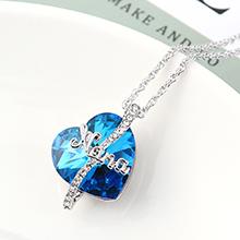 奥地利水晶项链--爱是永恒(蓝光)