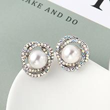 珍珠耳钉--花团锦簇(白色)