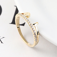 AAA级锆石戒指--魅力指环(14K金)