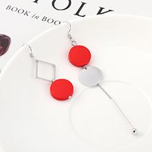 韩版简约时尚个性风镀真金不对称圆木耳环