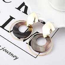 欧美时尚气质大牌镀真金圈圈镂空S925银针(14K金)