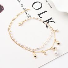 AAA级锆石手链--皇冠珍珠(14K金)