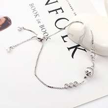 AAA级锆石手链--圆润如珠(白金)