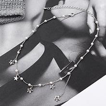 进口水晶项链--星之珠(白金)
