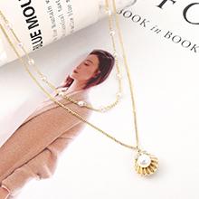 进口水晶项链--贝壳珠(14K金)