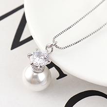 AAA级锆石项链--珠光宝气(白金)