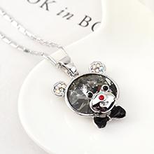 奥地利水晶项链--顽皮熊(黑钻石)