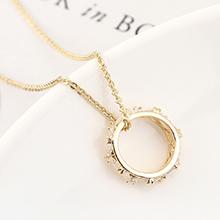 AAA级锆石项链--命运之轮(14K金)