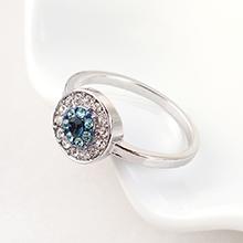 进口水晶戒指--恶魔之眼(白金)