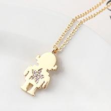AAA级锆石项链--小机器人(14K金)