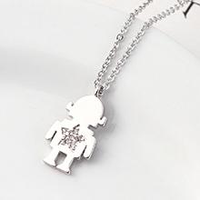 AAA级锆石项链--小机器人(白金)