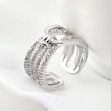 AAA级锆石戒指--缠绵今生(白金)