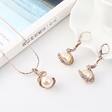 韩版复古时尚创意螺旋珍珠套装