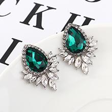 韩版大气时尚个性水滴耳环(绿色)