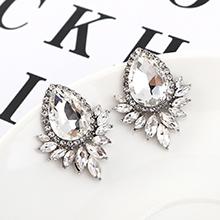 韩版大气时尚个性水滴耳环(白色)