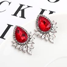 韩版大气时尚个性水滴耳环(红色)