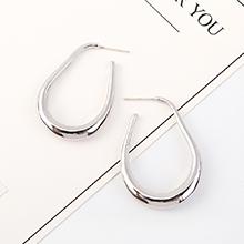 韩版时尚气质简约镀真金圈圈镂空S925银针(白金)