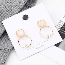 韩版时尚创意大牌镀真金圈圈镂空S925银针