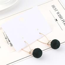 韩版时尚百搭简约小绒球耳环