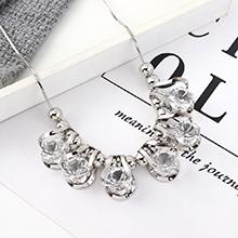 韩版创意夸张时尚个性光芒项链(白色)
